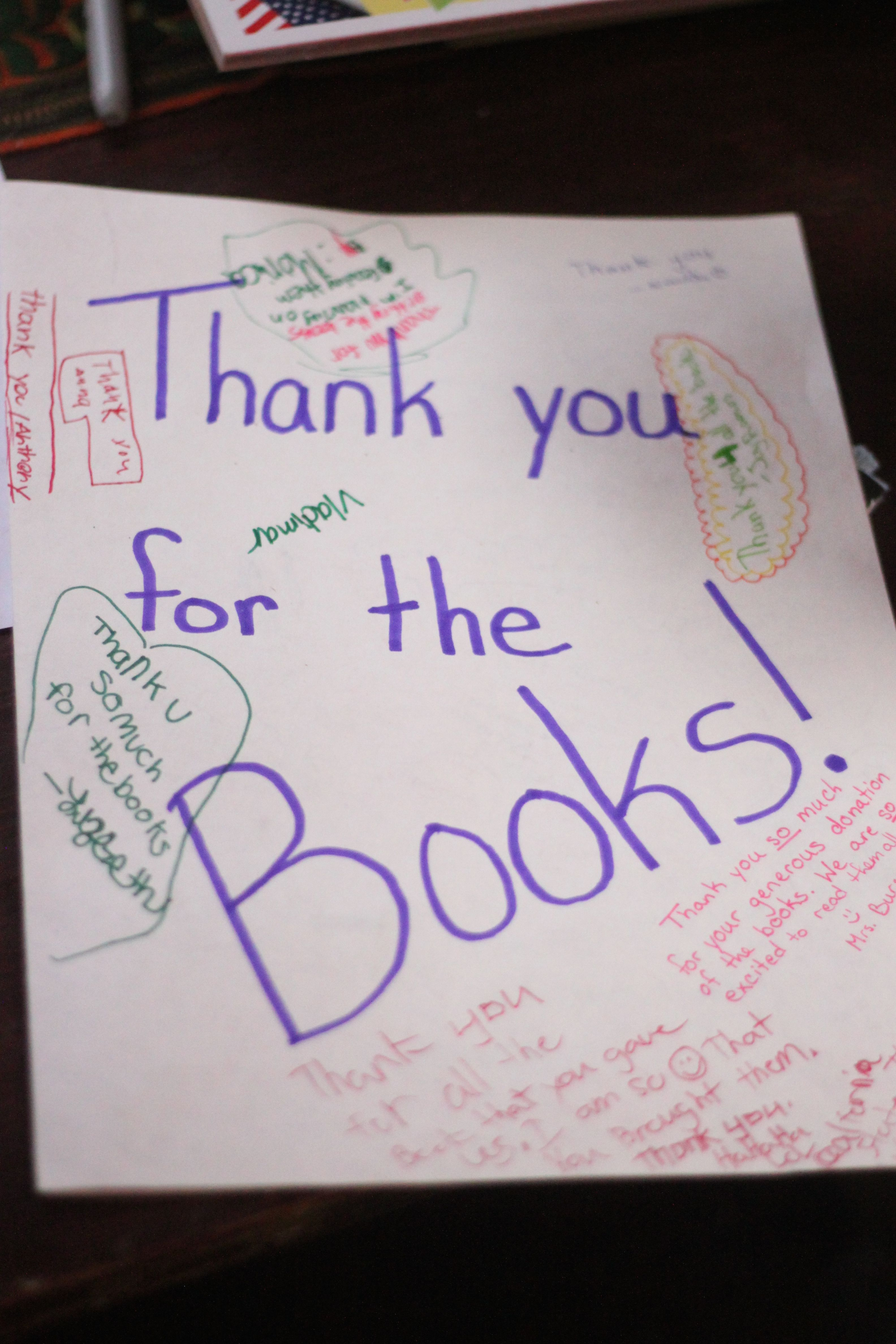 thank you for the books