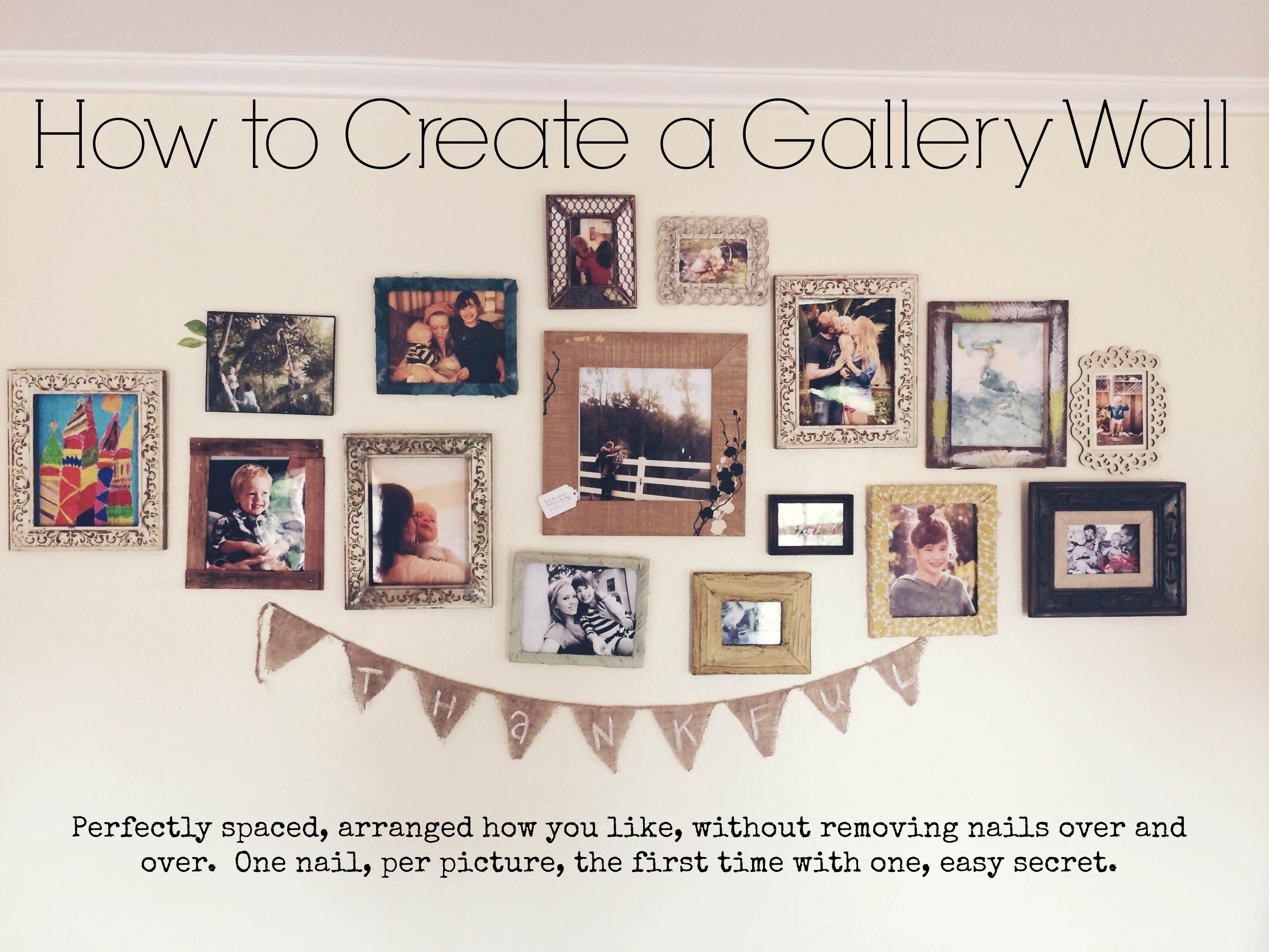 How To Create An Evenly Arranged Picture Gallery Wall